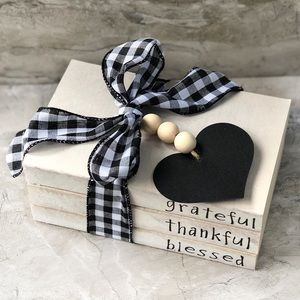 Other - Grateful Thankful Blessed Hand Stamped Books